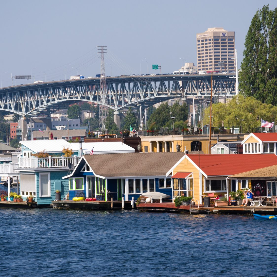 Houseboats in Seattle, WA, USA